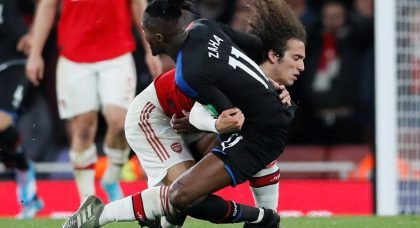 Arsenal: Fans appear to admit Matteo Guendouzi should have been shown a red for his challenge on Wilfried Zaha