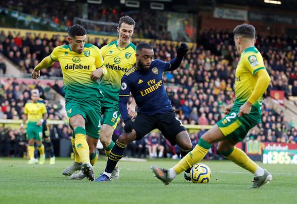 Arsenal fans slam Lacazette in first-half v Norwich