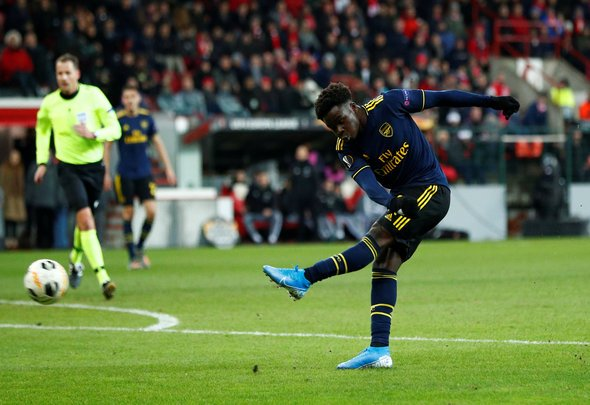 Arsenal fans wowed by Saka v Standard Liege